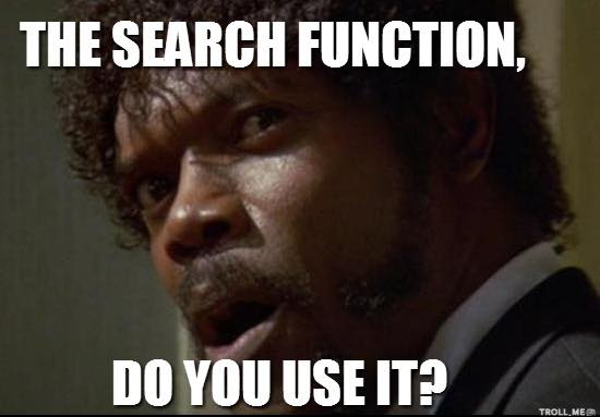 Use the search function