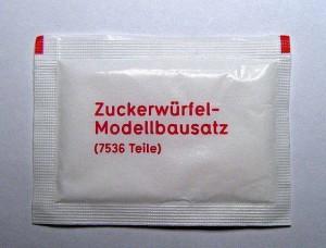 Zuckerwürfel-Modellbausatz