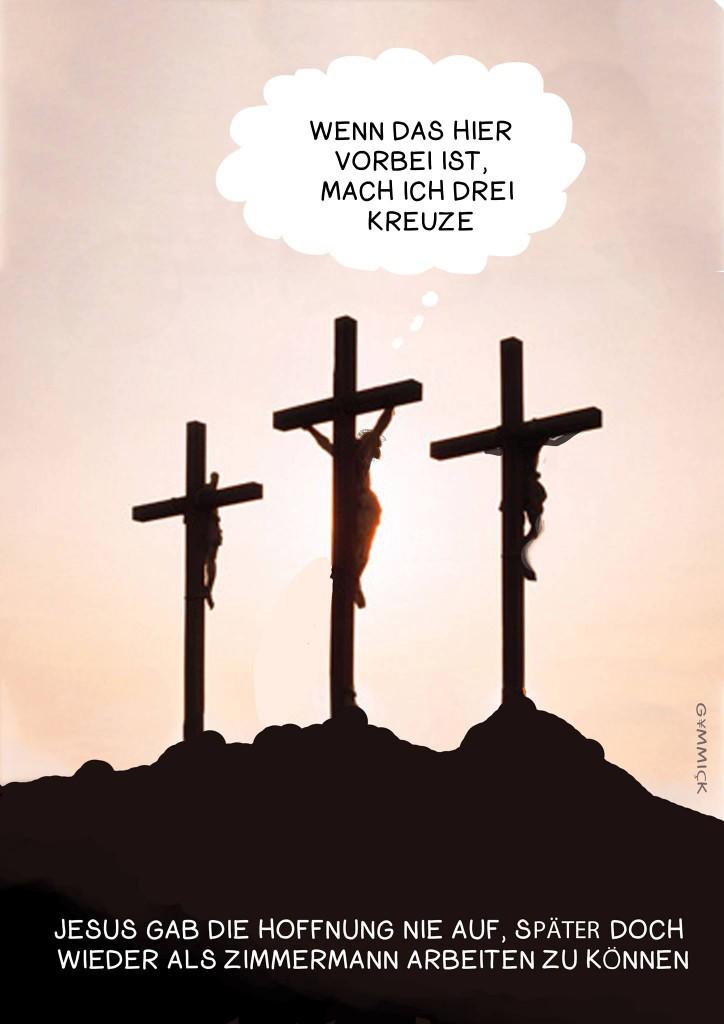 Jesus hofft es sei bald vorbei